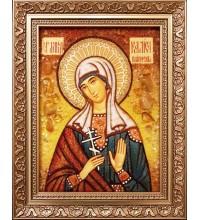 Калиса Коринфская - икона из янтаря (ар-376)