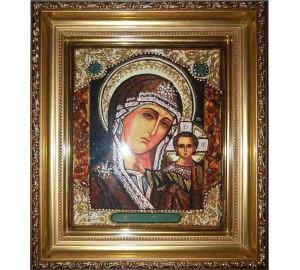 Казанська Богородиця - Чудова янтарна ікона (арпб-4)