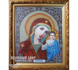 Казанская Богородица - Икона вышитая бисером, ручная работа (бю-1)