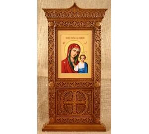 Киот настольный с иконой Казанская Божья Матерь (rev-106)
