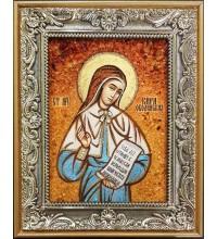 Кира Оболенская - икона из янтаря (ар-221)