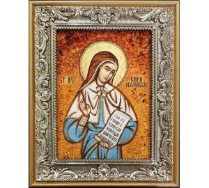 Кіра Оболенська - ікона з янтаря (ар-221)