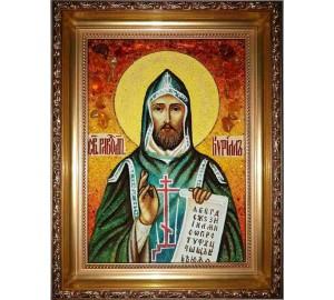 Кирило - янтарна ікона ручної роботи (ар-181)