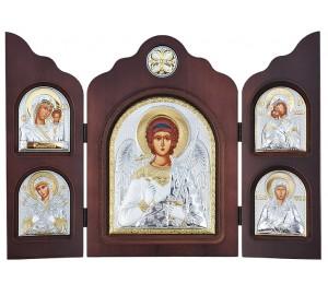 Красивый складень из трех частей Ангел-Хранитель - незаменимый подарок на все случаи жизни (ск-АХ)