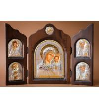Гарний складень з трьох частин Божа Матір Казанська (ск-ka5)