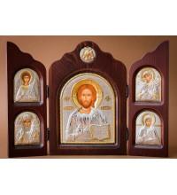 Гарний складень з трьох частин Ісус Христос (ск-Спаситель)