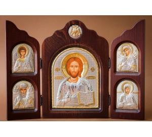 Красивый складень из трех частей Иисус Христос (ск-Спаситель)