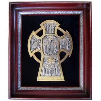 Крест -  качественная икона в красивом окладе (СФ-К-01)