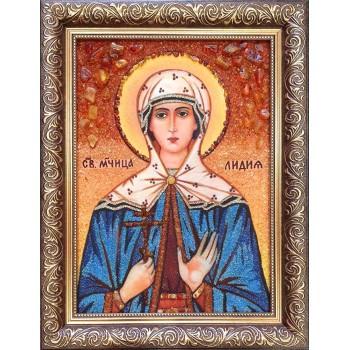 Лідія - Іменна ікона з янтаря (бурштину) - ручна робота (Лідія )