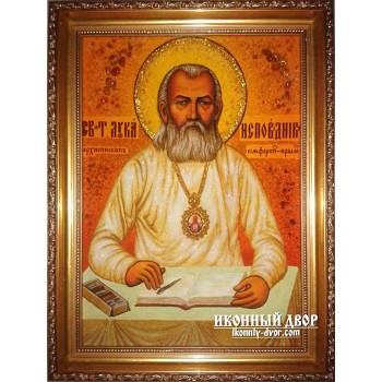 Лука Кримський, Архиєпископ - гідна ікона з янтаря (ар-144)