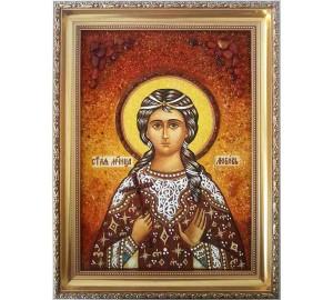 Любов Римська - іменна ікона з янтаря (ар-234)