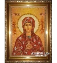 Марфа - Качественная янтарная икона ручной работы (ар-118)