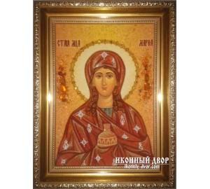 Марфа - Якісна янтарна ікона ручної роботи (ар-118)