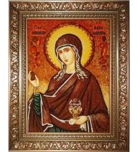 Мария Магдалина - красивая икона из янтаря (ар-326)