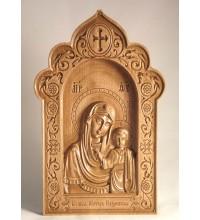 Матерь Божья Казанская - Резная деревянная икона (300 х 192, Дуб) (ДВ-3)