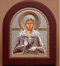 Матрона Блаженная (Московская) - Икона из Греции с серебром и позолотой (GOLD)