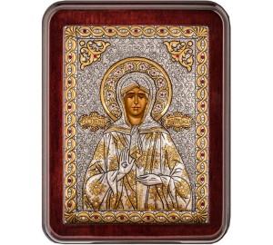 Матрона Московская - красивая греческая икона ручной работы (Argil-01)