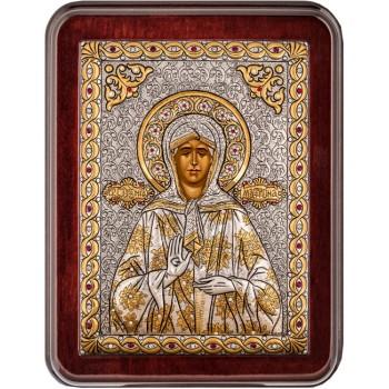 Матрона Московська - красива грецька ікона ручної роботи (Argil-01)