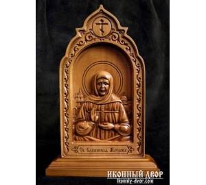 Матрона Московская - Резная деревянная икона (210 х 115 Груша) (ДВ-6)
