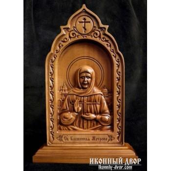 Матрона Московська - Різьблена дерев'яна ікона (210 х 115 Груша) (ДВ-6)