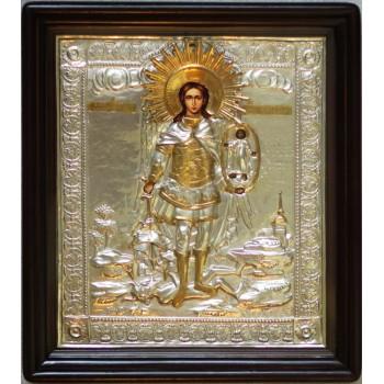 Михайло Архангел - ікона Писана в срібному окладі (хм-09)