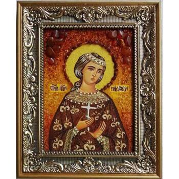 Надежда - именная икона из янтаря (ар-257)