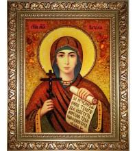 Наталия - Именная икона из янтаря (ар-80)