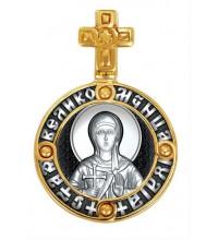 Нательная серебряная икона, образок святая Юлия (Иулия) (S-04)