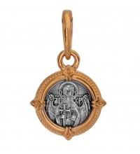 Нательная серебряная иконка, образок святой Ангел Хранитель (S-15)