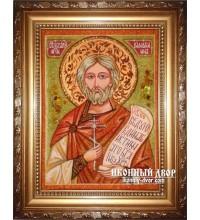 Назарий - Именная икона из янтаря (ар-103)