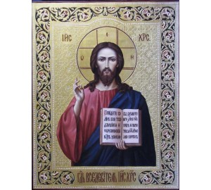 Непревзойденная писаная икона Господь Вседержитель (Ир-24)