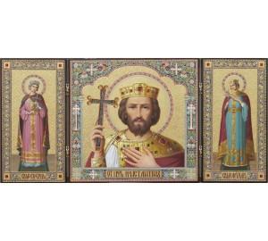 Неперевершений триптих Св. цар Костянтин, св. мч. Катерина та Олександра (ір-23)