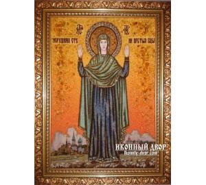 Нерушима Стіна - Янтарна ікона, ручна робота (ар-102)