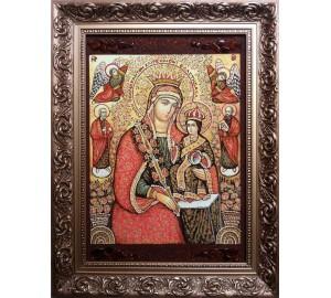 Неувядаемая Роза - икона из янтаря 30*40 см (ар-400/1)
