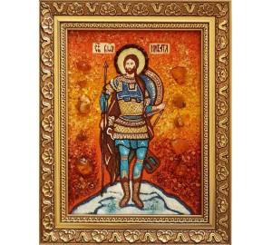 Никита - Икона именная из янтаря (бурштину) ручной работы (Никита)
