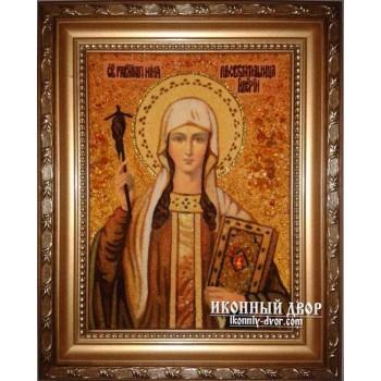 Нина - Прекраснейшая икона ручной работы из янтаря (Нина)