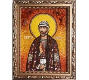 Олег Брянский - Именная икона из янтаря (ар-167)