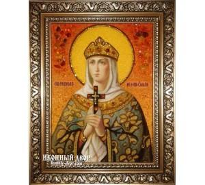 Ольга іменна ікона з янтаря - Рівноапостольна княгиня Ольга (ар-4)