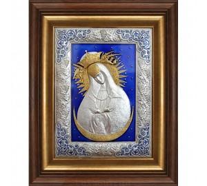 Остробрамська Ікона Божої Матері, ікона з сріблом і кольоровими емалями (юо-30)