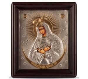 Остробрамська ікона - ікона писана, з сріблом (хм-56)