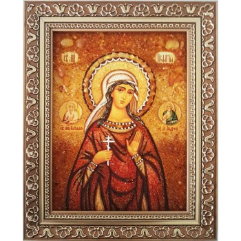 Пелагея Тарсийская - икона из янтаря (ар-314/1)