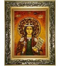 Пелагия (Пелагея) Тарсийская - икона с янтарем (ар-314)