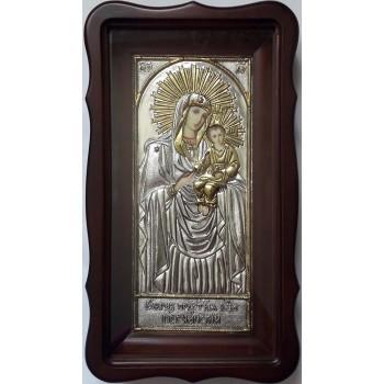 Песчанская Икона Божьей Матери - икона с серебром (хм-73)