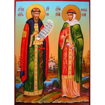 Петро і Февронія, покровителі родини - ікона писана (гр-48)