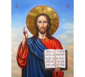 Писаная икона Христос Спаситель (Гр-10)