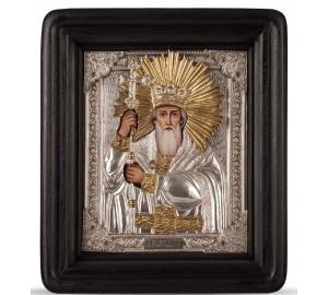 Писаная икона с серебром Святой Владимир равноапостольный (хм-55)