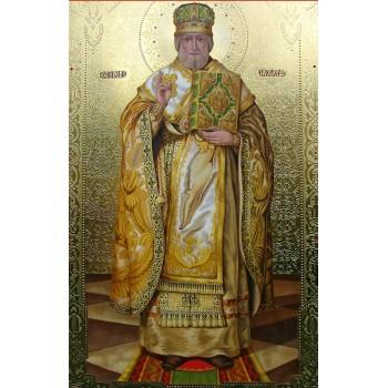 Ікона писана з сусальним золотом Святий Миколай (Дм-15)