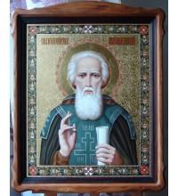 Писаная Икона Сергий Радонежский (ир-7)