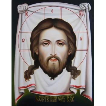 Писаная икона Спас Нерукотворный (гр-80)