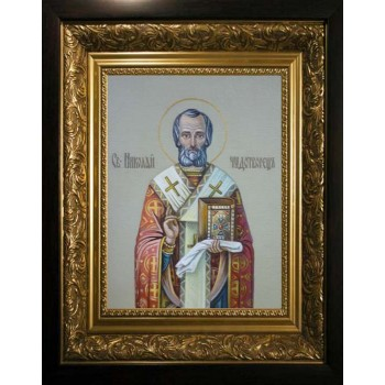 Писаная Икона Святитель Николай (сч-10)